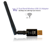 VU+ WLAN USB Adapter 600 Mbps mit Antenne